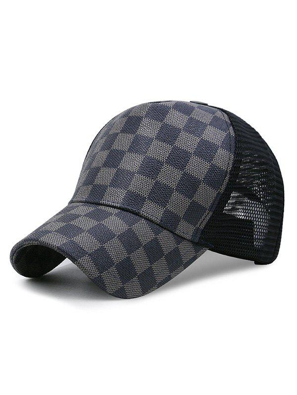 Buy Summer Grid Pattern Mesh Baseball Cap