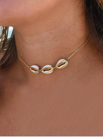 Link Chain Shell Shape Necklace
