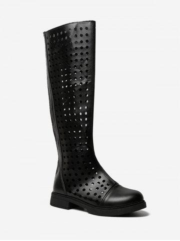 Hollow Out Knee High Boots