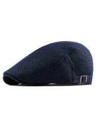 Mesh Trim Solid Color Design Beret -