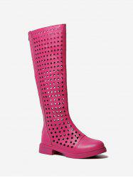 Hollow Out Knee High Boots -