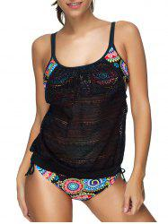Floral Crochet Layered Style Tankini Set -