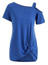 Open Shoulder Twisted Tunic Tee -
