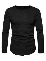 Long Sleeves Double Buttons Shirt -
