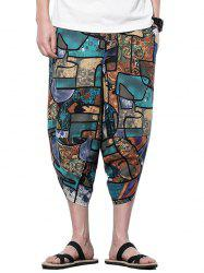Geometric Printed Casual Harem Pants -