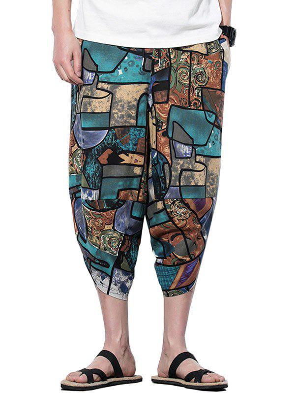 Trendy Geometric Printed Casual Harem Pants