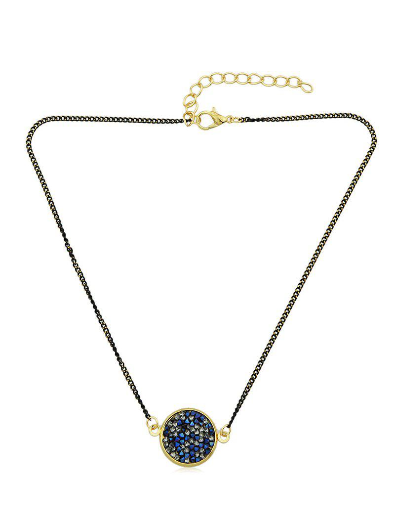 Online Round Pendant Choker Necklace