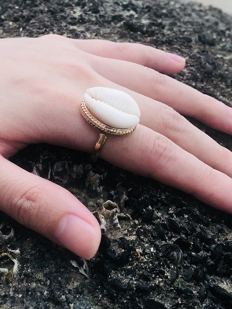 Affordable Carved Ethnic Metal Shell Ring