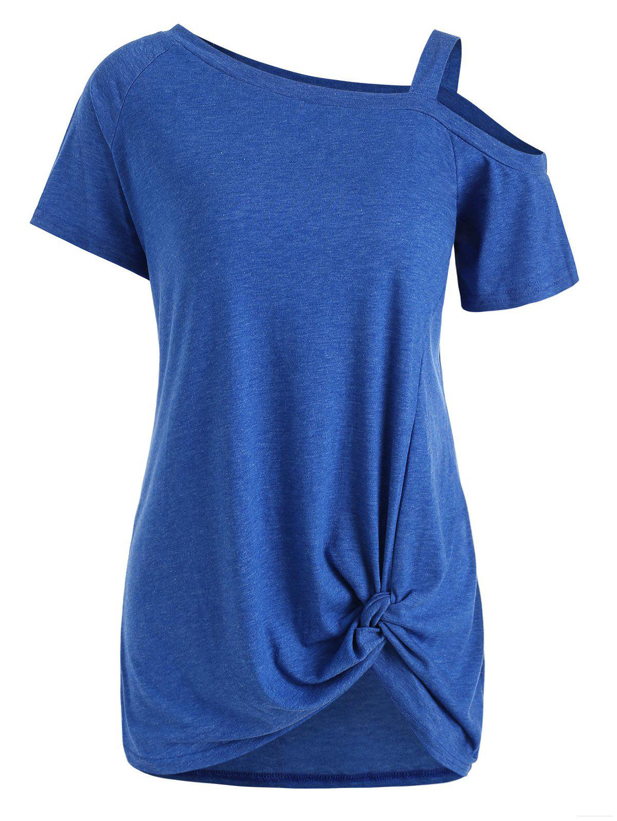 Latest Open Shoulder Twisted Tunic Tee