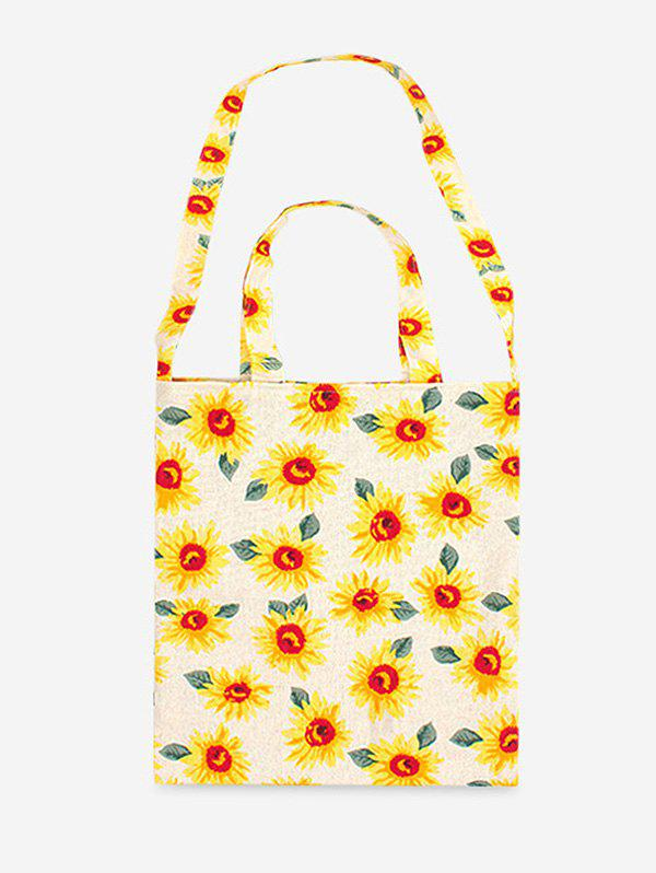 Cheap Cotton Flower Pattern Shoulder Bag