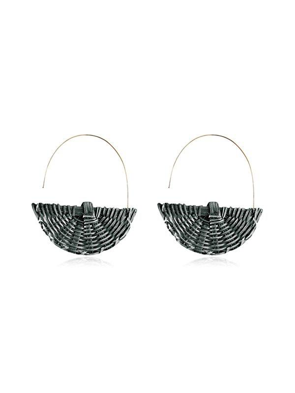Best Rattan Semicircle Handmade Earrings
