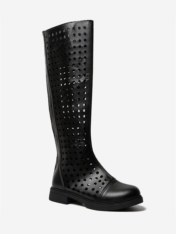 Discount Hollow Out Knee High Boots