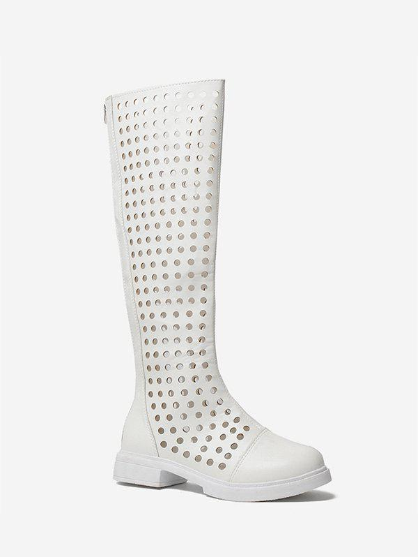 Affordable Hollow Out Knee High Boots