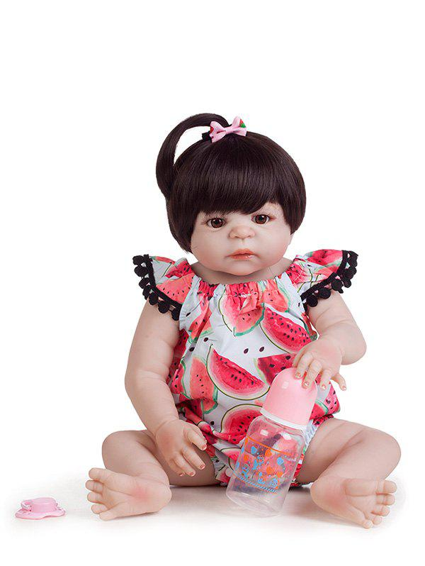 64d0bd140 Discount Simulation Reborn Baby Doll Soft Silicon Vinyl Realistic Doll  Watermelon Pattern with Beautiful Dress Reborn