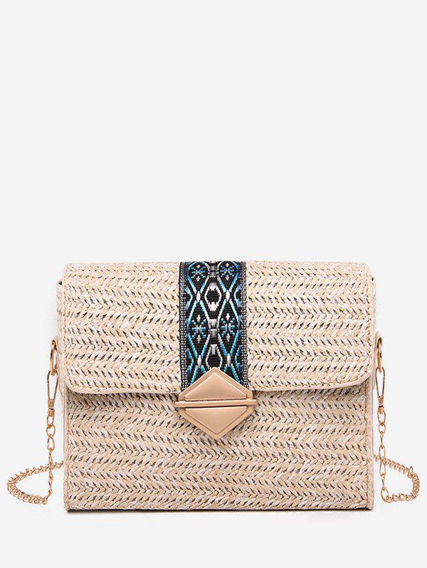 Outfits Ethnic Square Straw Shoulder Bag
