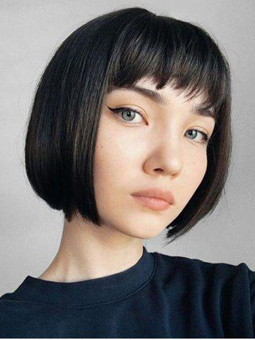 Neat Short Bang Short Straight Bob Synthetic Wig