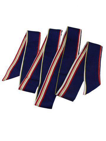 Striped Pattern Narrow Long Scarf