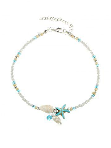 Conch Starfish Beaded Anklet