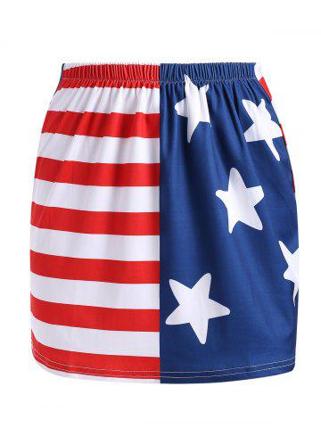 American Flag Mini Fitted Skirt