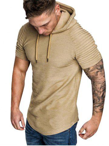 Hooded Ruched Sleeve T-shirt