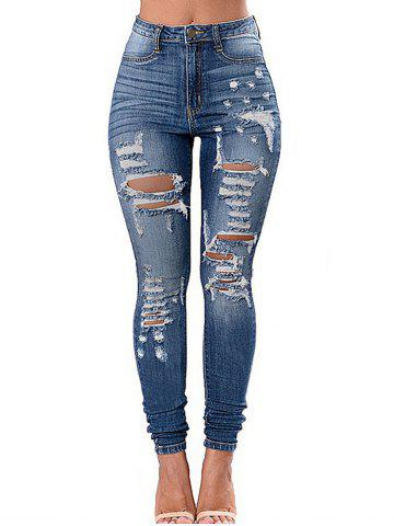 Pockets Ripped Skinny Jeans
