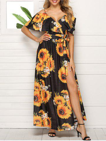 Sunflower Open Shoulder Flounce Dress