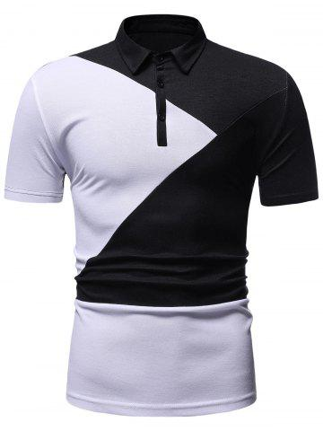 Color Block Decoration Short Sleeves T-shirt
