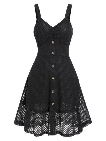 Plunge Fishnet A Line Dress