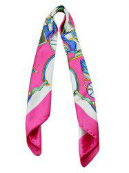 Printed Carriage Silky Square Scarf -