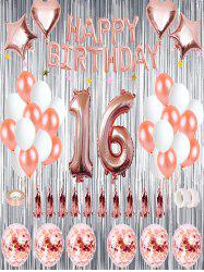 16th Birthday Balloon Decorations Set -