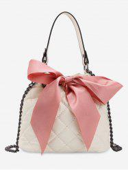 Bow Quilted Chain Bucket Bag -