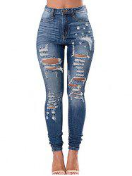 Pockets Ripped Skinny Jeans -