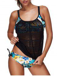 Crochet Floral Layered Style Tankini Set -