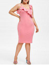 Plus Size Ruffle Bodycon Dress -