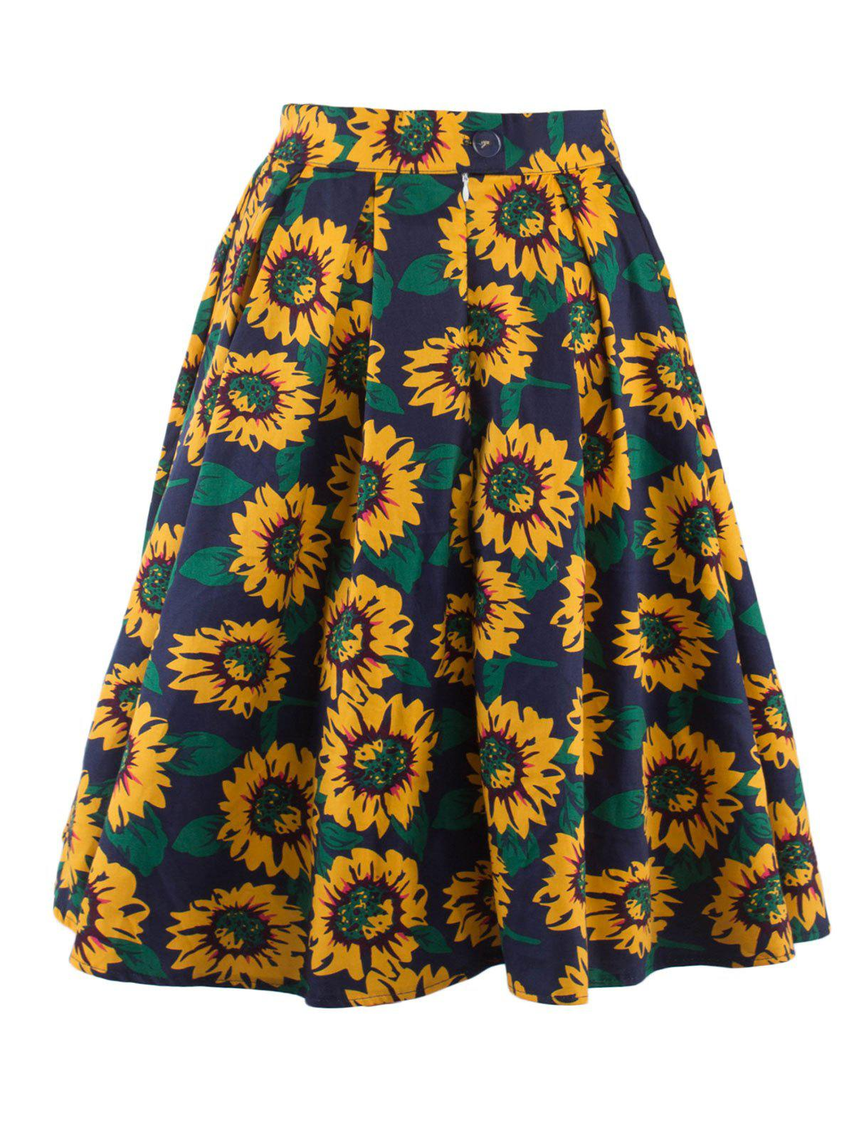 Shop Sunflower Print A Line Skirt