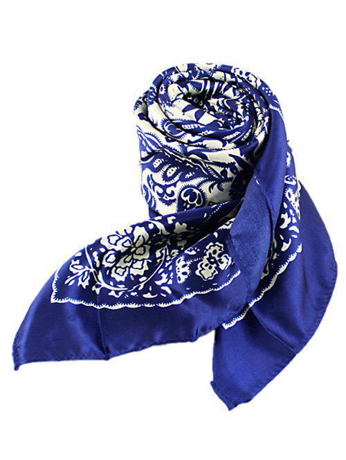 Chic Chinese Style Flower Print Square Scarf