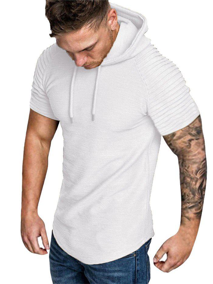 Hot Hooded Ruched Sleeve T-shirt