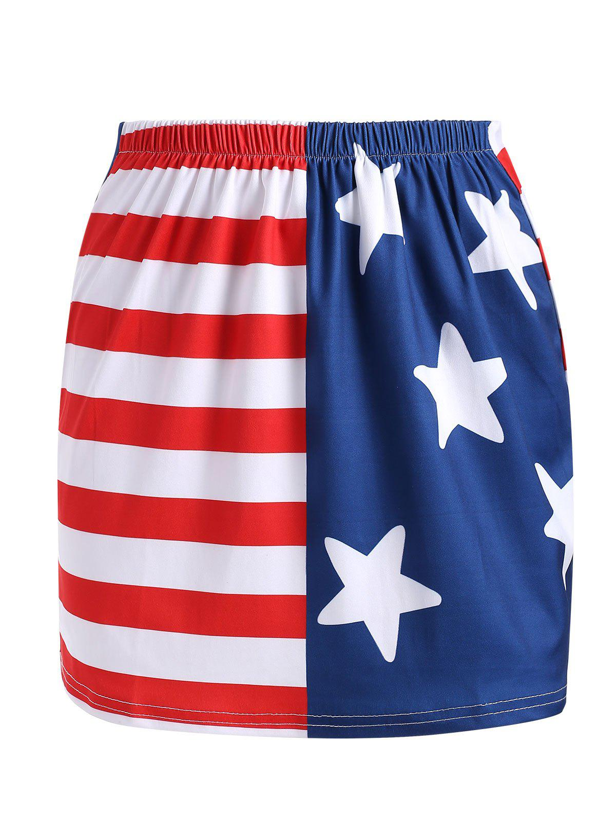 Store American Flag Mini Fitted Skirt
