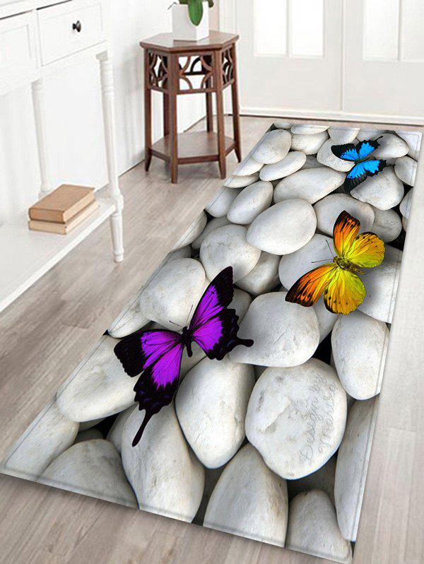 Best Stones and Butterfly Pattern Water Absorption Area Rug