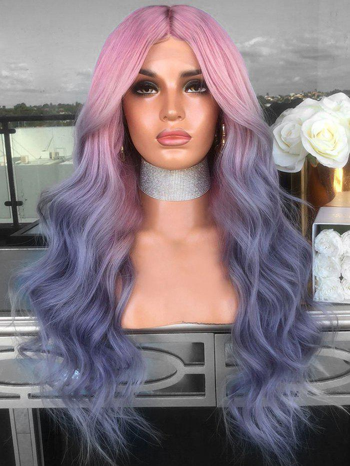 Outfit Middle Part Ombre Long Colormix Wavy Cosplay Synthetic Wig