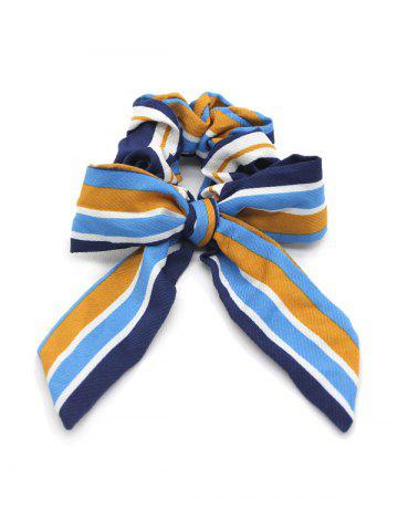 Striped Bow Elastic Hair Band Scrunchies