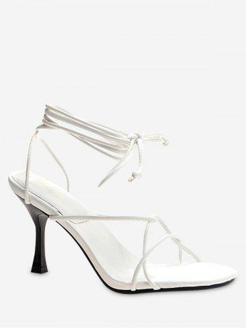 Lace Up Strappy High Heel Sandals