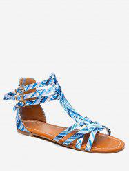 40038be0eea0 34% OFF   2019 Bohemian Print Flat Sandals