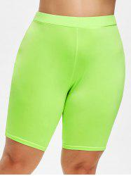 Rosegal Plus Size High Waist Lime Shorts -