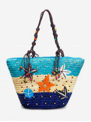 Large Capacity Straw Tote Bag -