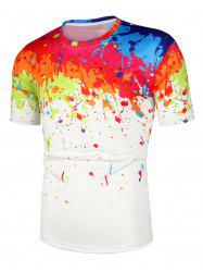 Painting Printed Short Sleeves Casual T-shirt -