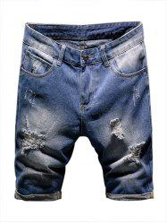 Casual Destroy Ripped Jean Shorts -