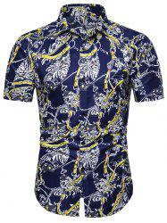 Printed Decoration Short Sleeves Shirt -