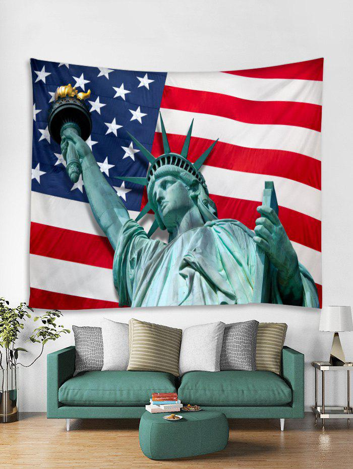 Statue Of Liberty and American Flag Print Tapestry Wall Hanging Art Decoration