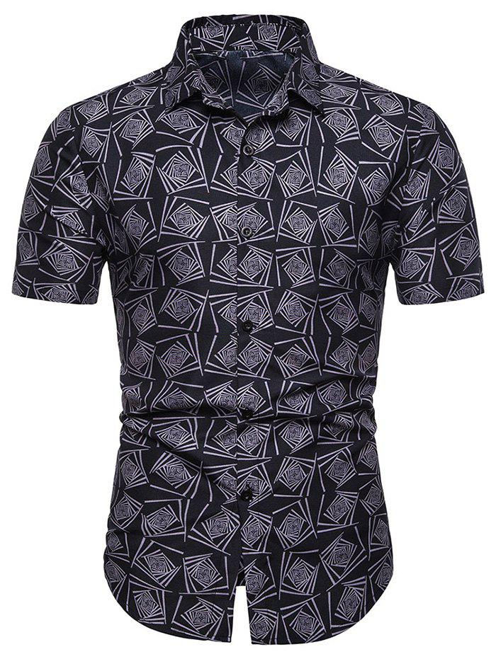 Store Casual Style Floral Print Short Sleeves Shirt